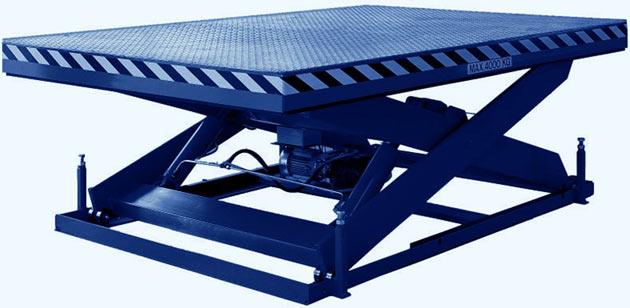 Специальное оборудование для поднятия и опускания грузов. Гидравлическая подъемная платформа