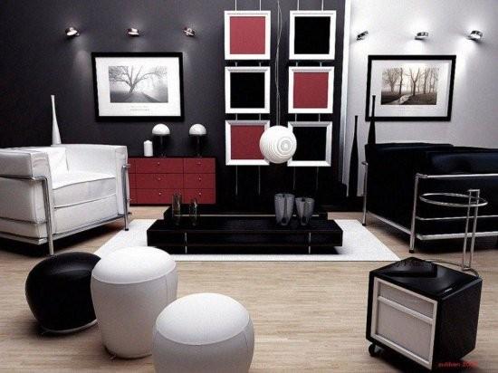 Черный цвет в оформлении интерьера