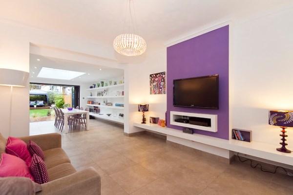 Дизайн гостиной: фото 2016, современные идеи, обои двух цветов