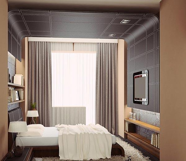 Дизайн спальни 9 кв м в современном стиле (детали на фото)