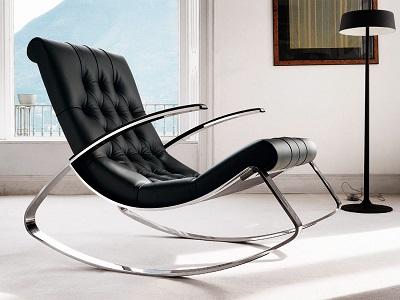 Кресло-качалка в современном интерьере