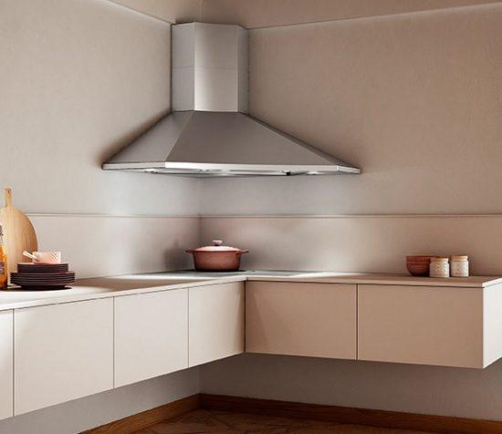 Кухонная угловая вытяжка – когда функциональное ещё и красиво