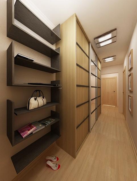 Прихожая для узкого коридора — уникальный дизайн с фото
