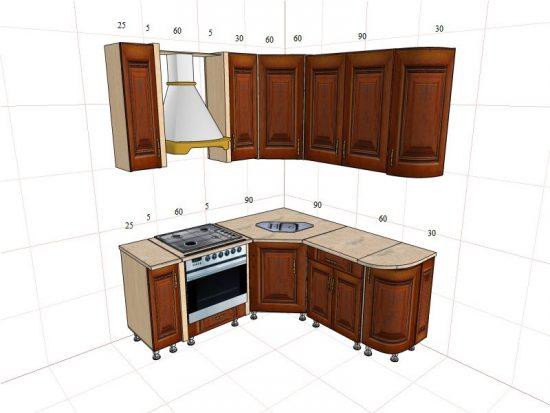 Угловые кухни: особенности и достоинства