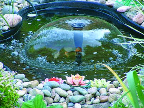 Установка садовых фонтанов