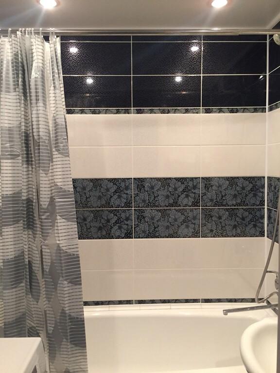 Ванная комната. Выбор дизайна с фото. Модная плитка 2016, гармонично вписывающаяся для маленькой ванны