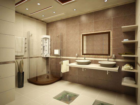 Варианты интерьерного оформления ванной комнаты